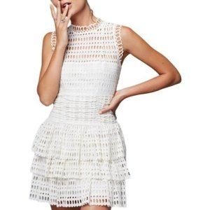FP One Women's Tiered Eyelet Casual Dress Size Sm